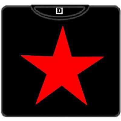 ESTRELLA:  ROJA  camiseta negra 100
