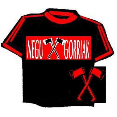NEGU GORRIAK negra vivos rojos  (155) 100